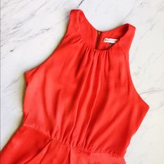 Rebecca Taylor Orange 'Set in Shift' Dress NWOT Absolutely gorgeous dress, perfect condition! Only worn once. High neckline, beautiful vibrant color, zipper down the back. Perfect for spring and summer. Rebecca Taylor Dresses Mini