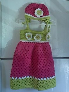 Free Crochet Watermelon Dress Pattern : 1000+ images about Girls dresses on Pinterest Crochet ...