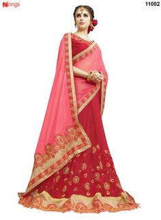 Women's Beautiful Georgette,Satin and Net Saree With Blouse #Sarees #Saris #Fashion #Looking #Popular #Offers #Design #Trending #Zinngafashion  #Designer #Offers