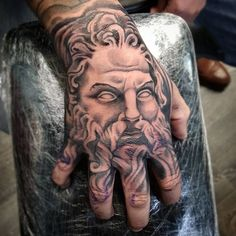 The tattoos can be perceived as an indication of toughness, strength, and a little bit of softness. Back and shoulder tattoos can effect someone seem . Viking Tattoos, Leg Tattoos, Body Art Tattoos, Sleeve Tattoos, Cool Tattoos, Hand Tattoos For Guys, Hand Tats, Tattoo Sketches, Tattoo Drawings
