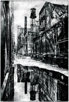 "Saatchi Online Artist: Michael Goro; other 2008 Printmaking ""Reflections"""