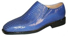 Giorgio Brutini Mens Royal Snakeskin Leather Loafers 155213-2