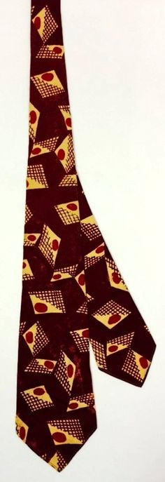 Vintage 1940s Palm Beach Goodall Worsted Co Tie Beau Brummell Decor Red White   eBay