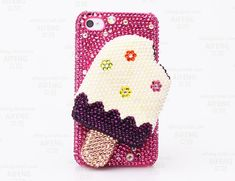 New 100% handmade diamond crystals Ice Cream Flatback Cabochon case for samusng note 5/4 case for galaxy s8 plus case