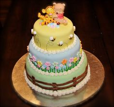 Baby Shower Sheet Cake Ideas | ... piping on my cake this is the white band of florets voila shower cake