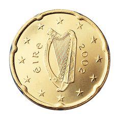 Ireland 20 Cent Coin, 2002