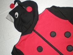 Ladybug Hoodie lady bug sweatshirt kids by CreativeCallipipper