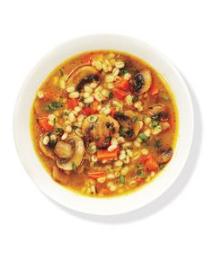 Mushroom Barley Soup | Get the recipe: http://www.realsimple.co...