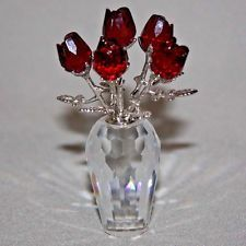 SWAROVSKI Crystal RED ROSES Flower Figurine MOTHER'S DAY Brand New In Box MINT