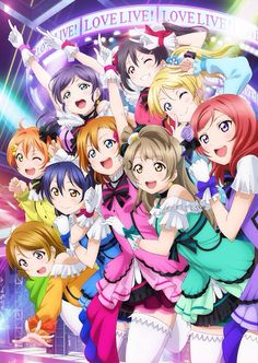 I love watching this anime, started probably a few days ago and I'm already half way through the second season!! ^–^ | Love Live! School Idol Project
