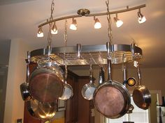 Stainless Steel Wall Mounted Pot Racks