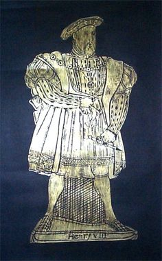 Henry VIII Brass Rubbing....for example of the rubbing you can create in the basement of the Abbey