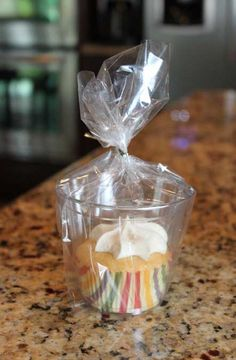 Neat and tidy way to pass out cupcakes at bake sales and classroom parties.