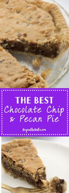If you love Chocolate Chip Cookies and Pecan Pie, then you will LOVE this recipe! Serve it warm with vanilla ice cream for an added treat!