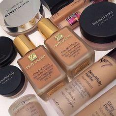 Love it @_sbeauty_ ! #esteelauder #bareminerals #maybelline #foundation #makeup…