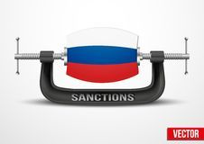 Sanctions against Russia over the Crimea Royalty Free Stock Images