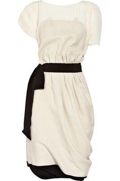 Vionnet-linen-and-silk-chiffon-dress