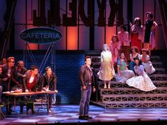 Riverside Theatre's production of Grease is currently playing through April BroadwayWorld has a first look at the production shots below! Grease Play, Grease 2016, Grease Themed Parties, Grease Musical, Stage Set Design, Stage Show, School Play, High School Musical, Retro Pattern