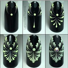 Opting for bright colours or intricate nail art isn't a must anymore. This year, nude nail designs are becoming a trend. Here are some nude nail designs. Elegant Nail Art, Trendy Nail Art, Lace Nails, Flower Nails, Nail Art Modele, Nail Art Arabesque, Black And White Nail Art, Black Art, Line Nail Art