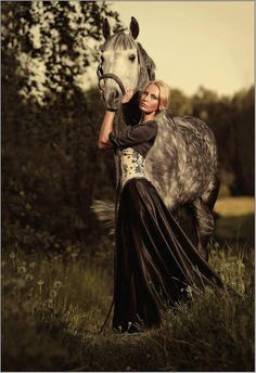She is WAY to serious u r never serious when u r around a horse because they are to pretty to be serious around :) <3