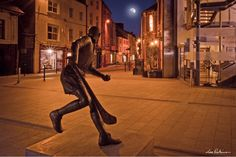 An unusual aspect of the Nickey Rackard Statue on Wexford's Main Street by Lee Robinson Wexford Town, Wexford Ireland, Irish Pride, Over The Moon, Main Street, Most Beautiful, Scenery, Gem, Highlights