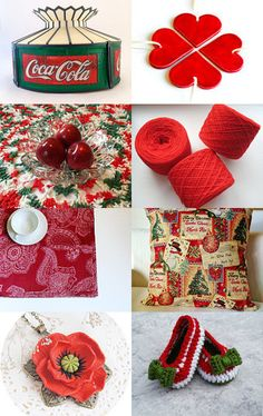 combining red and green by Renata on Etsy--Pinned with TreasuryPin.com