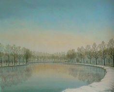 dany persoons, Sneeuwfeest langs de Dender on ArtStack #dany-persoons #art