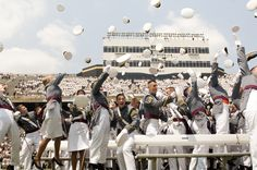 The traditional hat toss signifies the end of a cadet's 47-month learning experience at the U.S. Military Academy, West Point, N.Y., May 26, 2012. (U.S. Army photo by Spc. John G. Martinez)