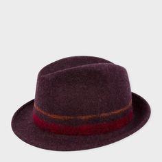 621b84f96772b Paul Smith Men s Damson Bonded Wool Trilby Hat