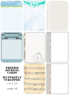 Sweetly Scrapped: ♥Free Printable Papers and Journal Cards - love the music one! Perfect for England. I might have to use that one a lot.