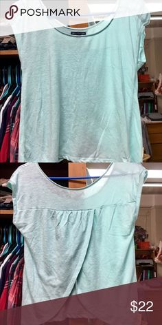 Seafoam teal AEO shirt In good condition American Eagle Outfitters Tops Tees - Short Sleeve