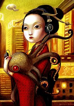 Benjamin Lacombe art.  I really didn't know where to put this, but it was too interesting to pass up.
