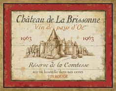 French Wine Labels I Art Print