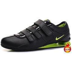 www.asneakers4u.com Mens Nike Shox R3 Velcro Black Green