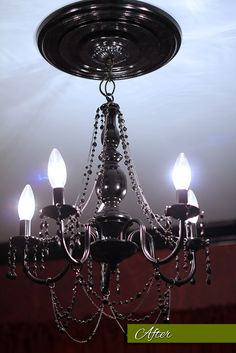 Home improvement how to spray paint old brass light fixtures cheap brass chandelier painted and then claires cheap jewelry added aloadofball Choice Image