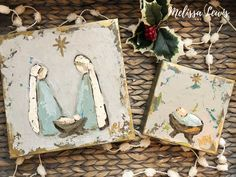How to paint Nativity and Manger Christmas mini's for gift's or yourself! Simple Nativity, Nativity Crafts, Christmas Crafts, Christmas Printables, Christmas Minis, Christmas Nativity, Christmas Art, Christmas Ideas, Christmas Bells