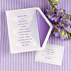 Purple, Spring wedding announcements