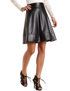 Faux Leather Skater Skirt: Charlotte Russe I LOVE THIS SKIRT