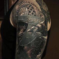 Spartan skull tattoo