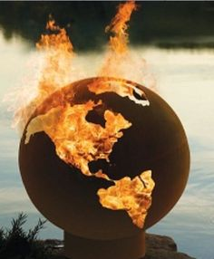 Fire Pit Globe - for the backyard