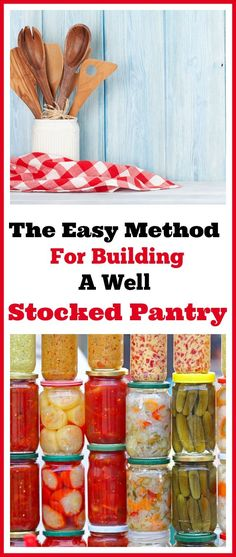 How to build a well stocked pantry without spending a ton of money. Having a well stocked pantry is so important in managing your grocery budget! Here's how to build your stockpile the easy no-stress way that lets you stick to your food budget. Frugal living tips, money saving tips, saving money on groceries, living on a budget