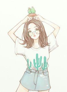 Pin by pome on art inspo in 2019 Manga Girl, Anime Art Girl, Illustration Girl, Character Illustration, Cute Girl Drawing, Tumblr Girl Drawing, Little Girl Drawing, Drawing Drawing, Girly Drawings