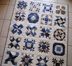 """Quilting It: My """"Apple Pie in the Sky"""" sampler quilt.  The quilting in this quilt is beyond beautiful!!!"""
