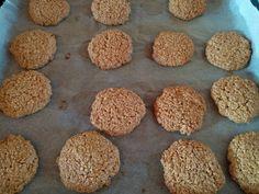 Μπισκότα με βρώμη και ταχίνι φωτογραφία βήματος 6 Sweet Recipes, Dog Food Recipes, Muffin, Anna, Sweets, Cookies, Breakfast, Desserts, Crack Crackers