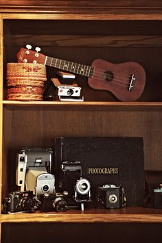 vintage cameras and ukuleles <3