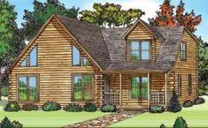 Log Home Floor Plan  Sq. Ft.: 2,125  Bedrooms: 3  Bathrooms: 2  Levels: 2