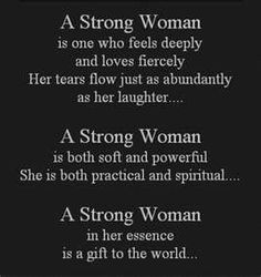 A new definition of what it means to be strong.  Oh, how I love those ladies that truly show their beautiful strength in this world!