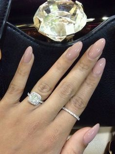 Promise ring and engagement ring