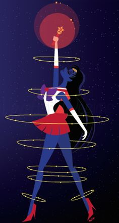 These Quirky Sailor Moon Illustrations are Awesome: Sailor Scout of Fire and Passion, Sailor Mars