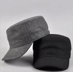 Men Women Winter Wool Felt  Military Hat Cap Fashion Army Style Cadet Hats Caps #Unbranded #CadetMilitary